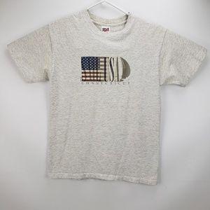 Vintage Sail USA Connecticut Men's T Shirt Medium